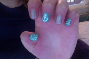 NOTE: These are actually my nails!! I got them done today at a beauty school, and they did a really good job!!